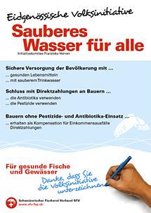 """Volksinitiative """"Sauberes Wasser für alle"""""""